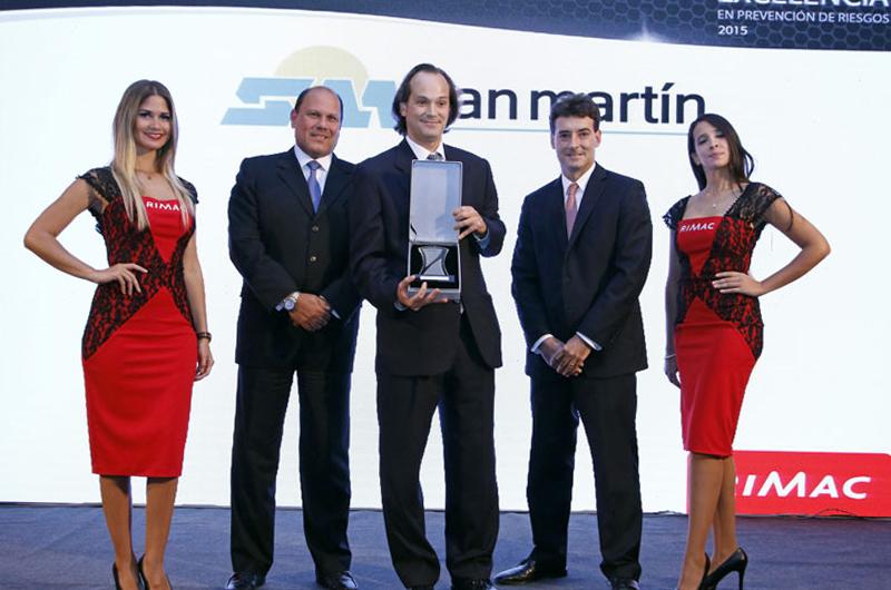 San Martín Contratistas destacó en Premios Rímac a la Excelencia Empresarial en Seguridad y Prevención de Riesgos Laborales