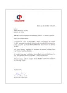 Safety Management<br /> Cementos Pacasmayo 2016
