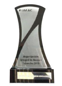 Rimac Seguros<br /> Best business initiative in prevention of occupational hazards during 2015