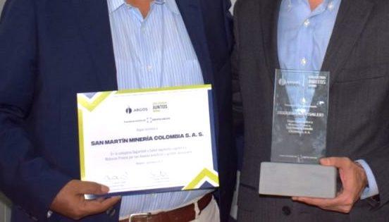 San Martín recibe reconocimiento por parte de Argos Colombia